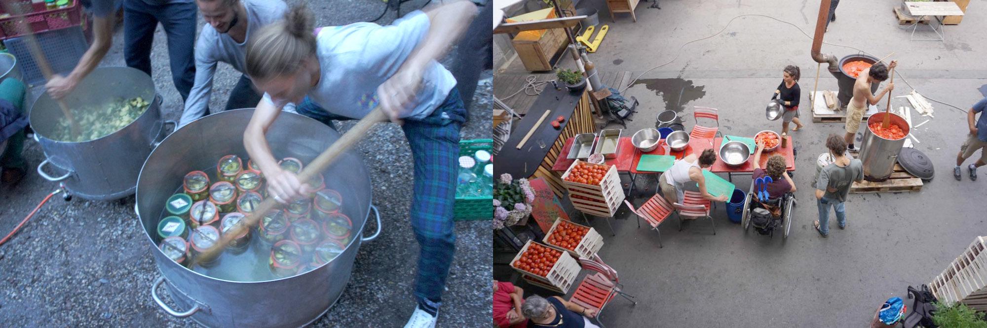 Mobile Rüst- / Einmach- / Fermentier-Küche – gemeinsam vor Ort haltbar machen von (Wild-)Früchten aus der Nachbarschaft, von Ernteüberschüssen u.v.m.