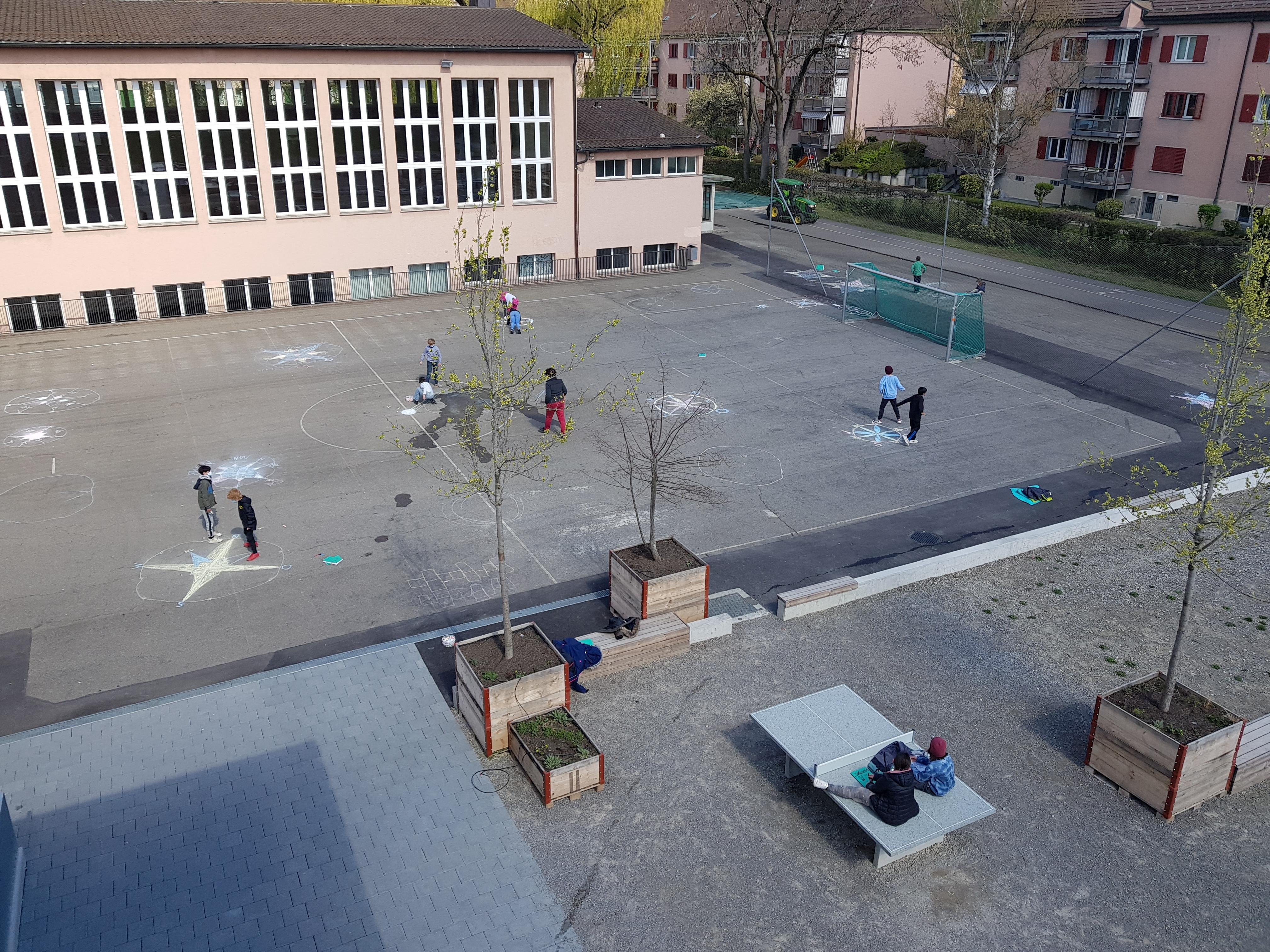 Mauerseglernisthilfen Turnhaus Lettenwiese Zürich / Mauerseglerprojekt 5. Primar Schule Letten