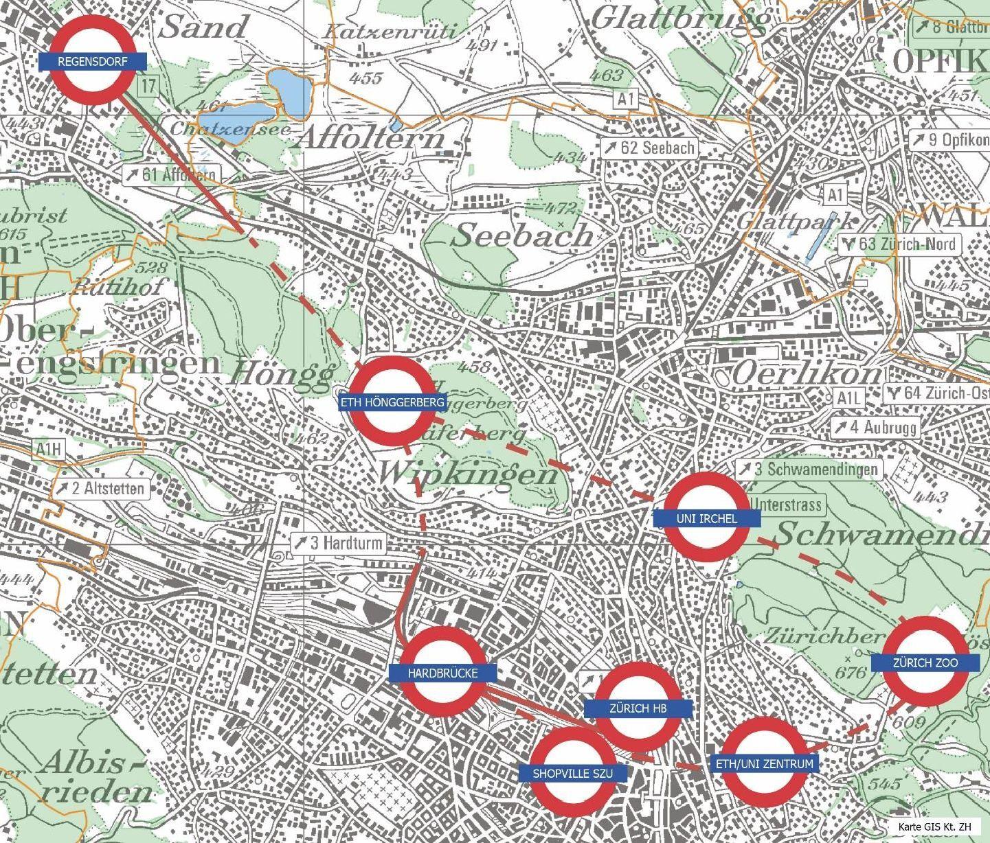 Zurich Circle Line- neue hocheffiziente Verbindungen innerhalb der Stadt